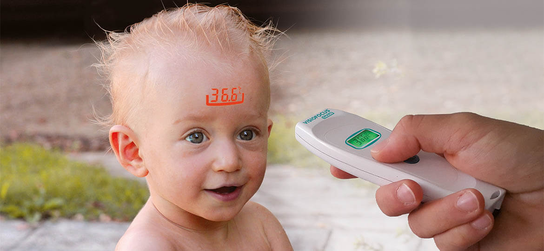Pomiar termometrem elektronicznym Visiofocus Smart